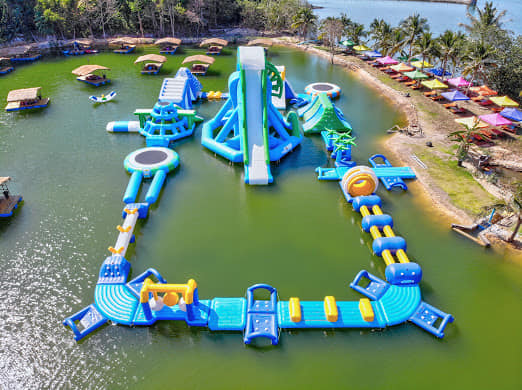 Floating water parks