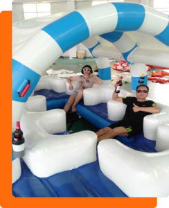 inflatable Party Raft canopy